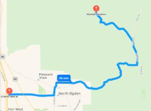 Mule Shoe and Mule Ear Trailhead Map